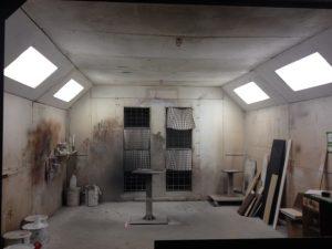 Chambre à peinture fermée